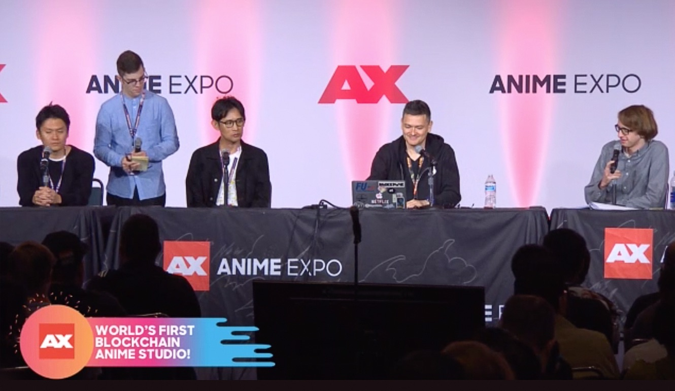 CEO/Founder Julian at Anime Expo with Studio Mappa